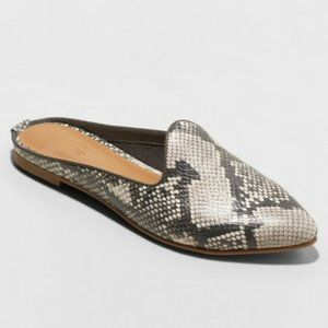UNIVERSAL THREAD Violet Snake Mules Slides in Gray
